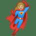 🦸🏼♀️ woman superhero: medium-light skin tone Emoji on Google Platform