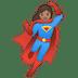 🦸🏽♀️ woman superhero: medium skin tone Emoji on Google Platform