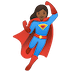🦸🏾‍♀️ woman superhero: medium-dark skin tone Emoji on Google Platform
