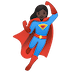 🦸🏿‍♀️ woman superhero: dark skin tone Emoji on Google Platform