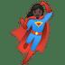 🦸🏿♀️ woman superhero: dark skin tone Emoji on Google Platform