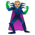 🦹🏼 supervillain: medium-light skin tone Emoji on Google Platform
