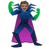 🦹🏽 supervillain: medium skin tone Emoji on Google Platform