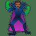 🦹🏾 supervillain: medium-dark skin tone Emoji on Google Platform