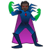 🦹🏿 supervillain: dark skin tone Emoji on Google Platform