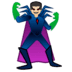 🦹🏻‍♂️ man supervillain: light skin tone Emoji on Google Platform