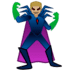 🦹🏼‍♂️ man supervillain: medium-light skin tone Emoji on Google Platform