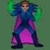🦹🏽♂️ man supervillain: medium skin tone Emoji on Google Platform