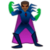 🦹🏾‍♂️ man supervillain: medium-dark skin tone Emoji on Google Platform