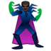 🦹🏿♂️ man supervillain: dark skin tone Emoji on Google Platform