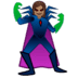 🦹🏽♀️ woman supervillain: medium skin tone Emoji on Google Platform
