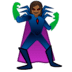 🦹🏾‍♀️ woman supervillain: medium-dark skin tone Emoji on Google Platform