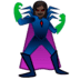 🦹🏿‍♀️ woman supervillain: dark skin tone Emoji on Google Platform