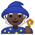 🧙🏿 Dark Skin Tone Mage Emoji on Google Platform
