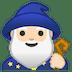 🧙🏻♂️ man mage: light skin tone Emoji on Google Platform