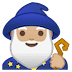 🧙🏼♂️ man mage: medium-light skin tone Emoji on Google Platform