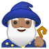 🧙🏽‍♂️ man mage: medium skin tone Emoji on Google Platform