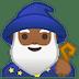 🧙🏾♂️ man mage: medium-dark skin tone Emoji on Google Platform