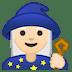 🧙🏻♀️ woman mage: light skin tone Emoji on Google Platform
