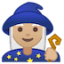 🧙🏼‍♀️ woman mage: medium-light skin tone Emoji on Google Platform