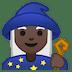 🧙🏿♀️ woman mage: dark skin tone Emoji on Google Platform