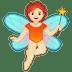 🧚🏻 fairy: light skin tone Emoji on Google Platform
