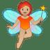 🧚🏼 fairy: medium-light skin tone Emoji on Google Platform