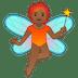 🧚🏾 fairy: medium-dark skin tone Emoji on Google Platform