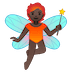🧚🏿 Dark Skin Tone Fairy Emoji on Google Platform