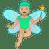 🧚🏼♂️ man fairy: medium-light skin tone Emoji on Google Platform