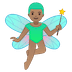🧚🏽‍♂️ man fairy: medium skin tone Emoji on Google Platform
