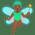 🧚🏾♂️ man fairy: medium-dark skin tone Emoji on Google Platform