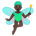 🧚🏿‍♂️ man fairy: dark skin tone Emoji on Google Platform