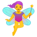 🧚♀️ woman fairy Emoji on Google Platform