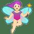 🧚🏻♀️ woman fairy: light skin tone Emoji on Google Platform