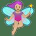 🧚🏼♀️ woman fairy: medium-light skin tone Emoji on Google Platform