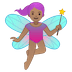 🧚🏽‍♀️ woman fairy: medium skin tone Emoji on Google Platform