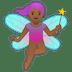 🧚🏾♀️ woman fairy: medium-dark skin tone Emoji on Google Platform