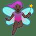 🧚🏿♀️ woman fairy: dark skin tone Emoji on Google Platform