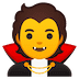 🧛 vampire Emoji on Google Platform