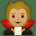 🧛🏼 vampire: medium-light skin tone Emoji on Google Platform