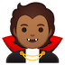 🧛🏽 vampire: medium skin tone Emoji on Google Platform