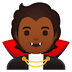🧛🏾 vampire: medium-dark skin tone Emoji on Google Platform