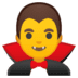 🧛‍♂️ man vampire Emoji on Google Platform