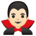 🧛🏻‍♂️ man vampire: light skin tone Emoji on Google Platform