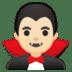 🧛🏻♂️ man vampire: light skin tone Emoji on Google Platform