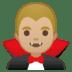 🧛🏼♂️ man vampire: medium-light skin tone Emoji on Google Platform
