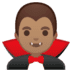 🧛🏽‍♂️ man vampire: medium skin tone Emoji on Google Platform