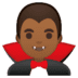 🧛🏾‍♂️ man vampire: medium-dark skin tone Emoji on Google Platform