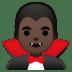 🧛🏿♂️ man vampire: dark skin tone Emoji on Google Platform